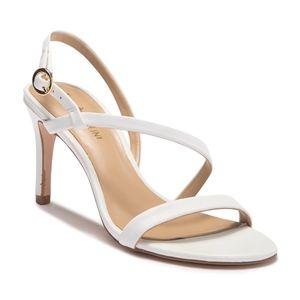 Enzo Angiolini Sandria White Strappy Heels 7.5
